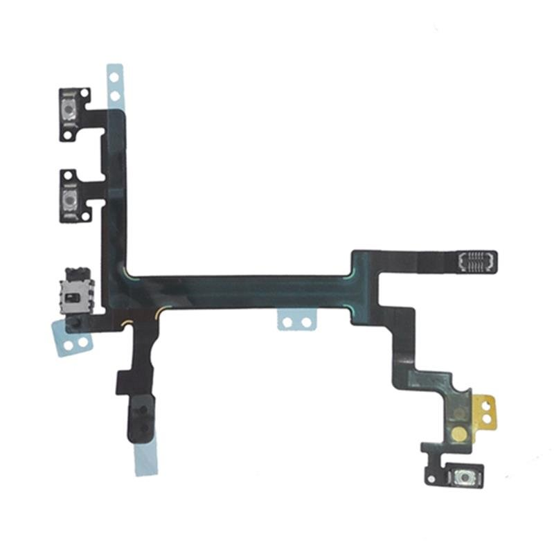 Original Powerbutton, Laut-Leise, Lautlos, Mikrofon Flex-Kabel für iPhone 5